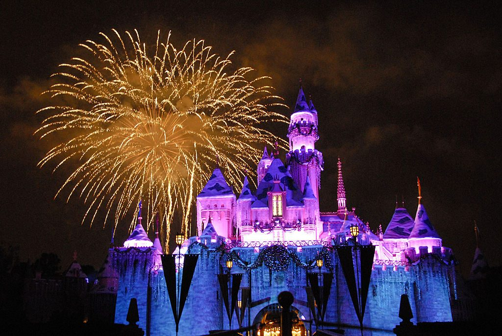 Sleeping Beauty's Castle with Fireworks