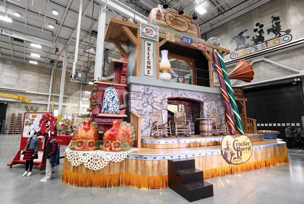 The Home Sweet Home float by Cracker Barrel Old Country Store for the 93rd annual Macy's Thanksgiving Day Parade.