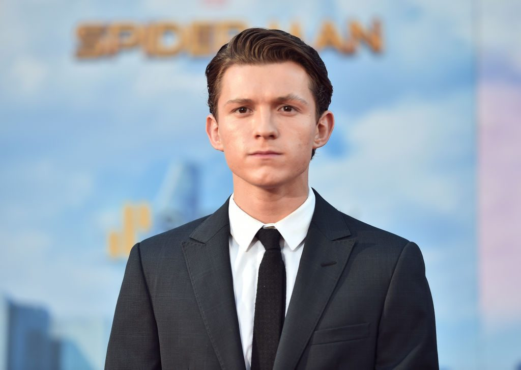 """Tom Holland attends the premiere of Columbia Pictures' """"Spider-Man: Homecoming"""" at TCL Chinese Theatre."""