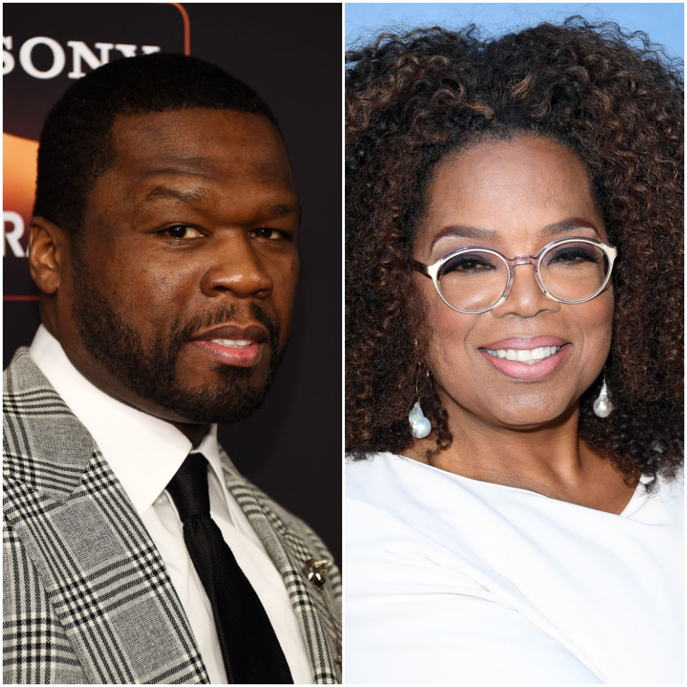50 Cent and Oprah Winfrey