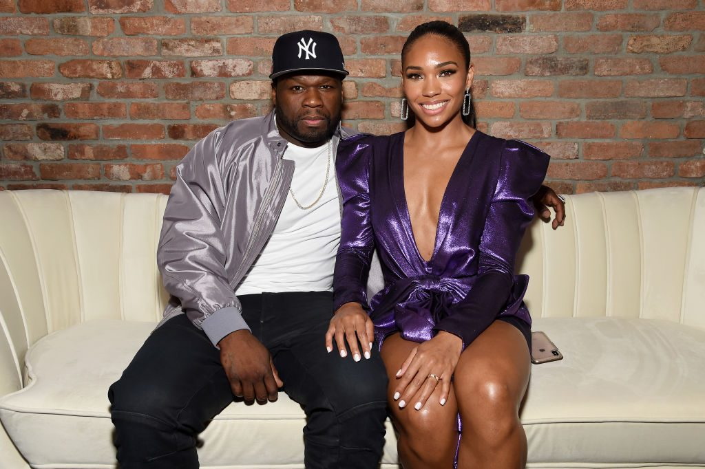 "Curtis ""50 Cent"" Jackson and Jamira at STARZ Madison Square Garden ""Power"" Season 6 Red Carpet Premiere"