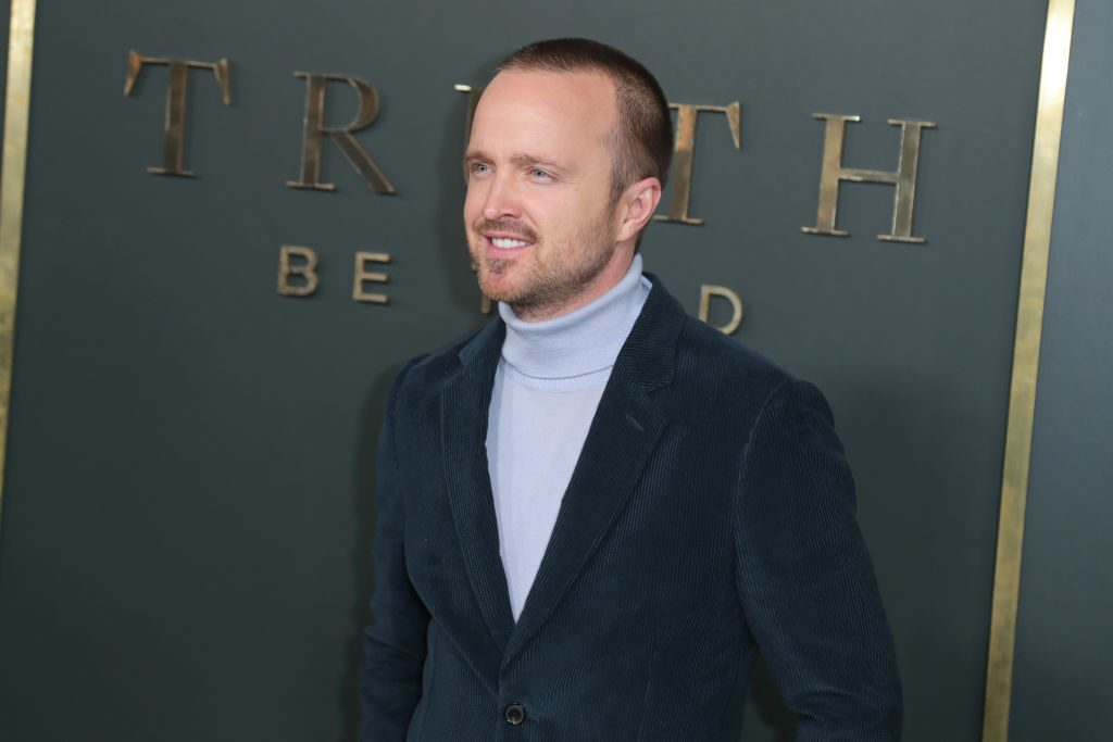 "Aaron Paul attends Premiere Of Apple TV+'s ""Truth Be Told"""