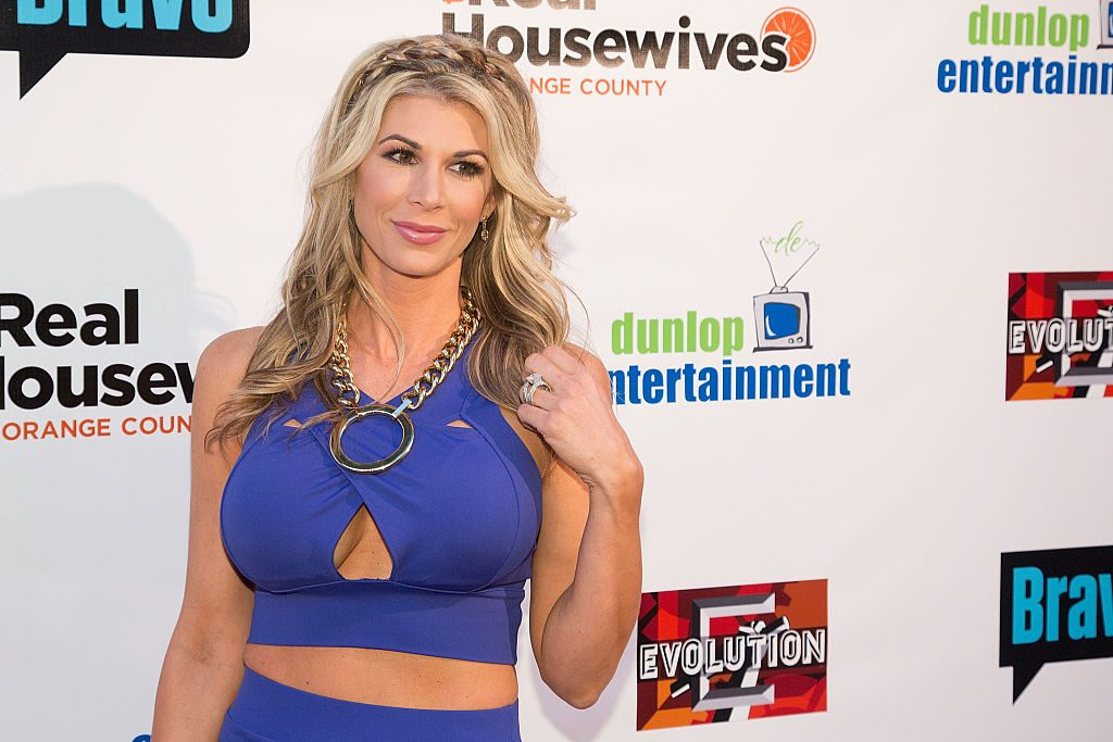 Alexis Bellino arrives for the premiere party for Bravo's 'The Real Housewives of Orange County' 10 Year Celebration