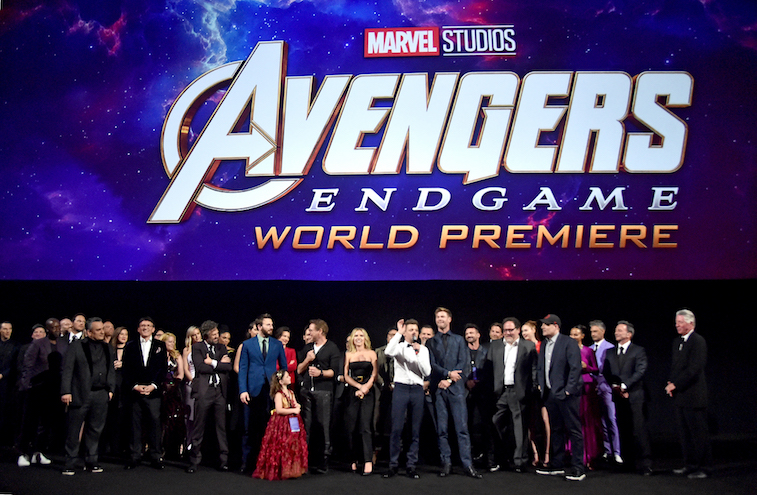 The cast of Avengers Endgame at the world premiere