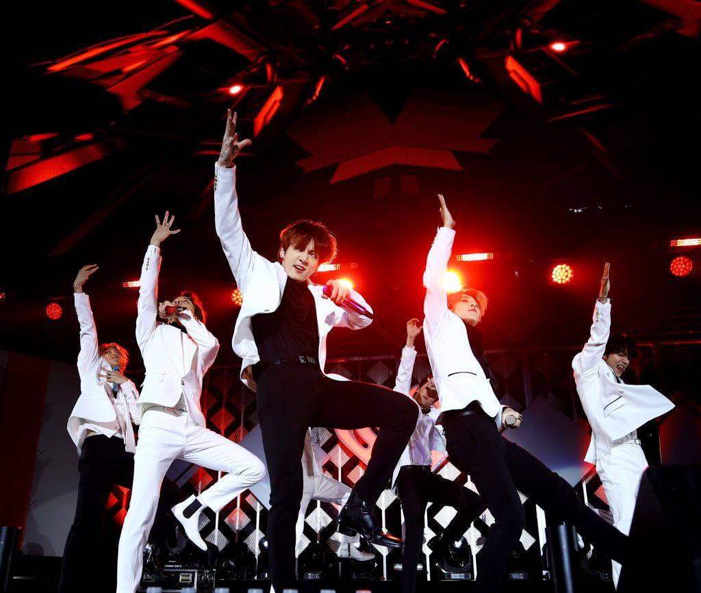 BTS performs onstage during 102.7 KIIS FM's Jingle Ball 2019