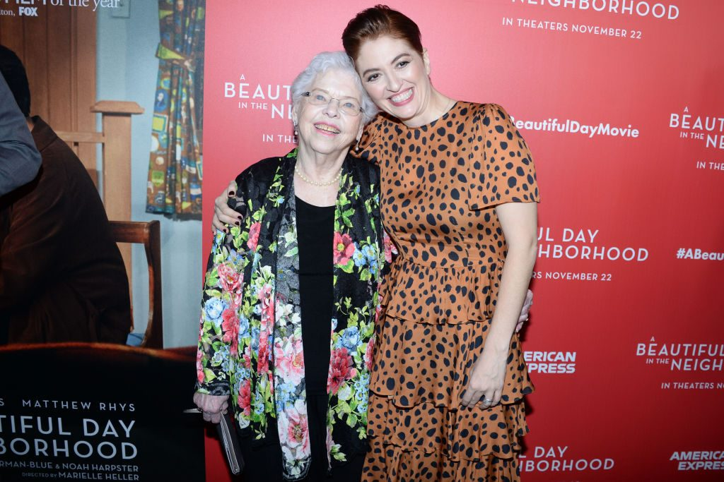 Joanne Rogers, Fred Rogers' wife, and Marielle Heller at A Beautiful Day In The Neighborhood screening