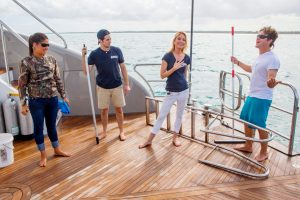 'Below Deck': Kate Chastain and Connie Arias Reunite and Party