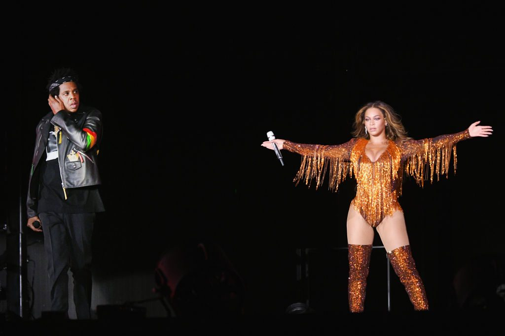 Beyonce and Jay-Z perform on stage