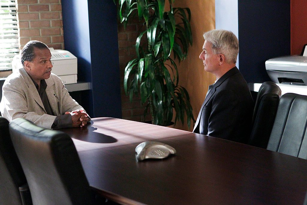 Billy Dee Williams and Mark Harmon on NCIS. |  Cliff Lipson/CBS via Getty Images