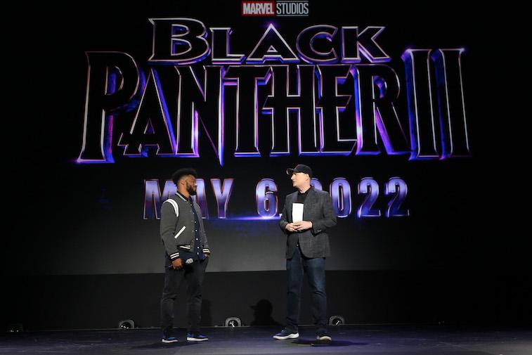 Ryan Coogler and Kevin Feige speak onstage