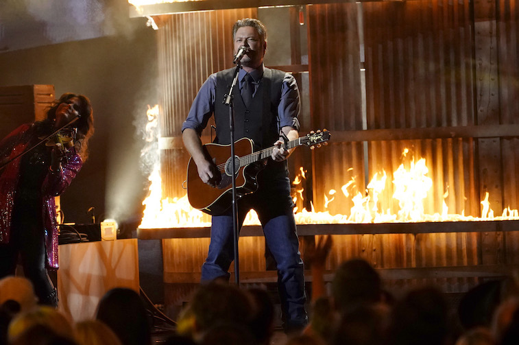 Blake Shelton performs onstage