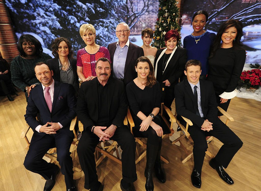 The Blue Bloods cast on the set of The Talk | Heather Wines/CBS via Getty Images