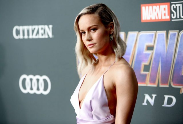 Brie Larson at the world premiere of 'Avengers: Endgame'