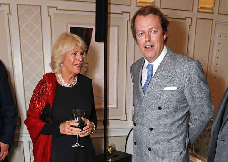 Camilla Parker Bowles and son