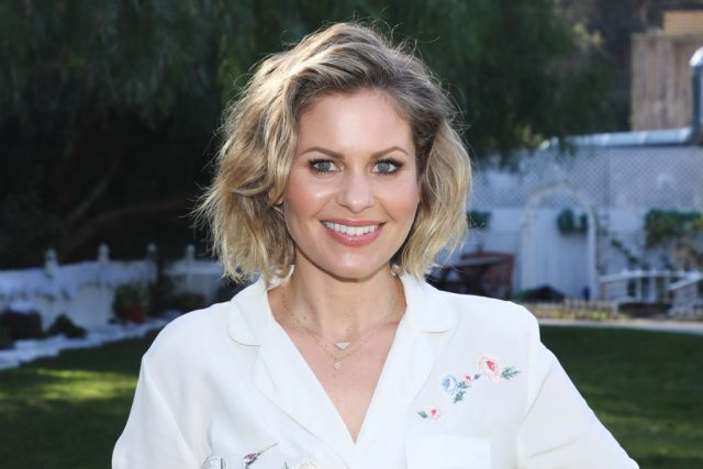 "Candace Cameron Bure visits Hallmark's ""Home & Family"" at Universal Studios Hollywood on Jan. 10, 2019"