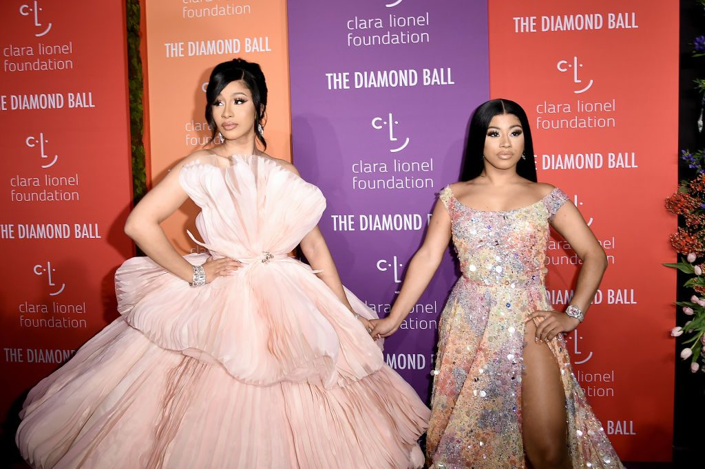 Cardi B and her sister Hennessy Carolina attend the Diamond Ball