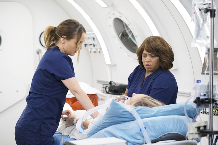 CAMILLA LUDDINGTON, CHANDRA WILSON on Grey's Anatomy