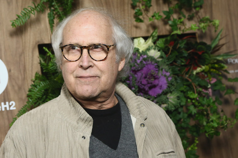 Chevy Chase on the red carpet
