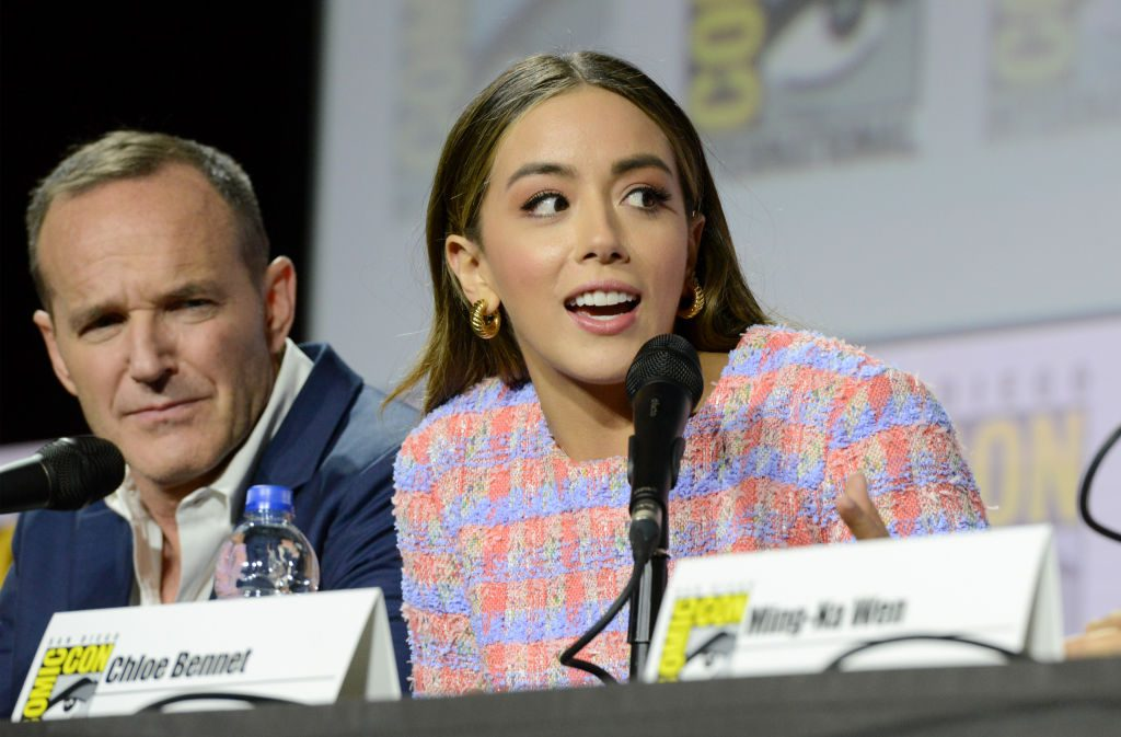 Chloe Bennet and Clark Gregg for Marvel Television's 'Agents of S.H.I.E.L.D.'