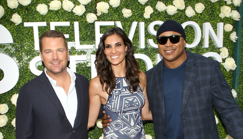 Chris O'Donnell, Daniela Ruah, and LL Cool J | Michael Tran/FilmMagic