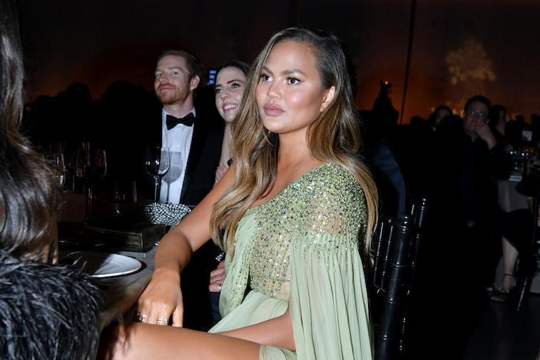Chrissy Teigen at a gala reception