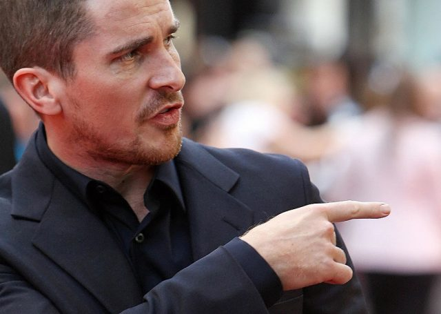 Christian Bale at the European premiere of 'The Dark Knight'