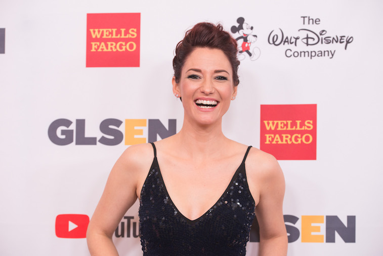 Chyler Leigh on the red carpet