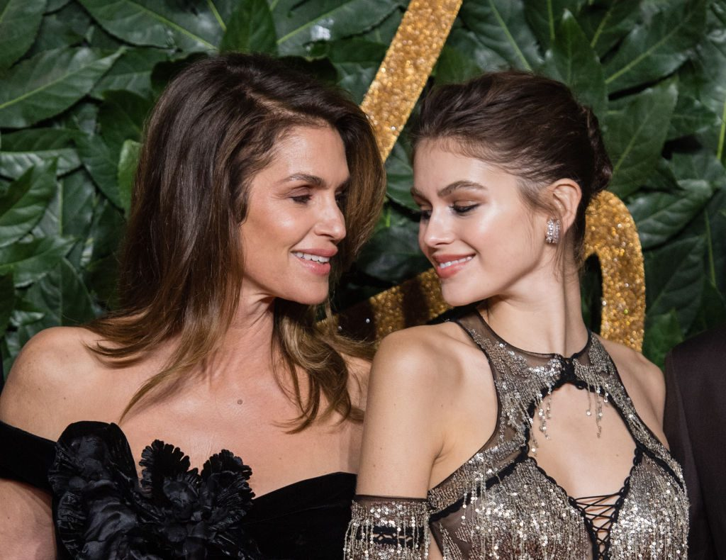 Cindy Crawford and Kaia Gerber arrive at The Fashion Awards 2018