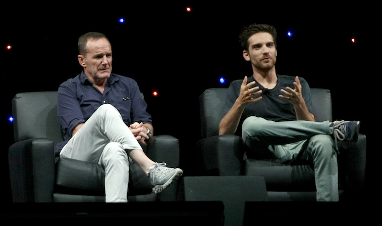 Clark Gregg and Jeff Ward speak onstage