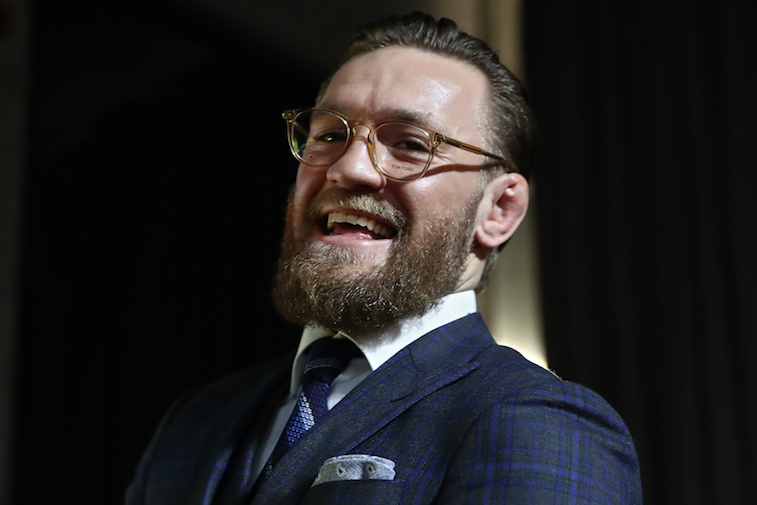 Conor McGregor speaking during a press conference