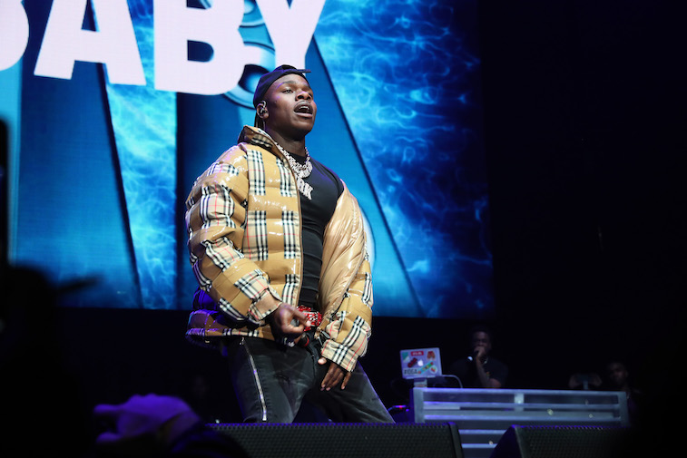 DaBaby performs onstage