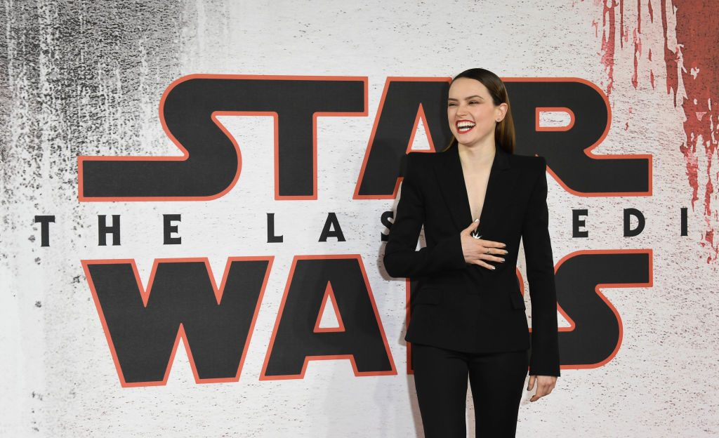 Daisy Ridley during the 'Star Wars: The Last Jedi' photocall