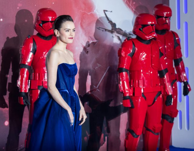 Daisy Ridley at the 'Star Wars: The Rise of Skywalker' premiere
