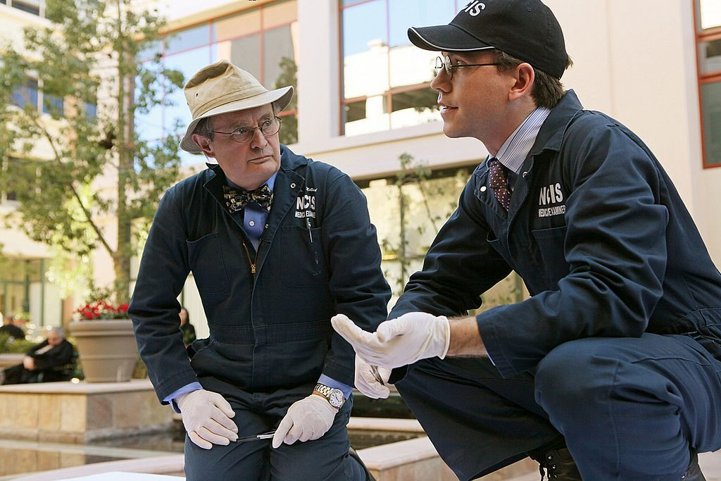 David McCallum and Brian Dietzen on NCIS. | Patrick Wymore/CBS via Getty Images