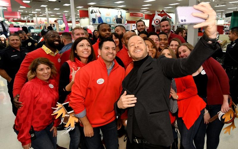 Donnie Wahlberg helps Target celebrate 10 years of its Heroes & Helpers program in Edgewater, N.J.