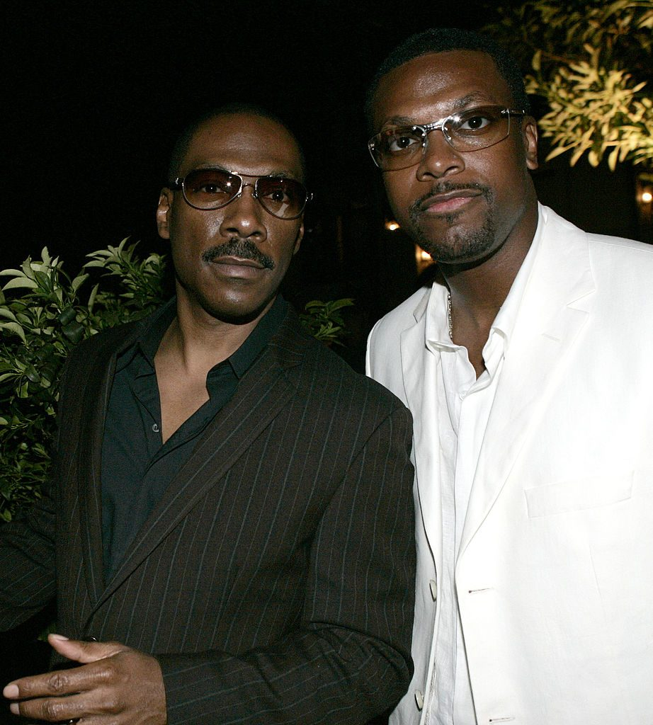 Eddie Murphy and Chris Tucker at an event