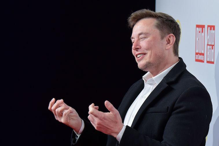 Elon Musk on the red carpet