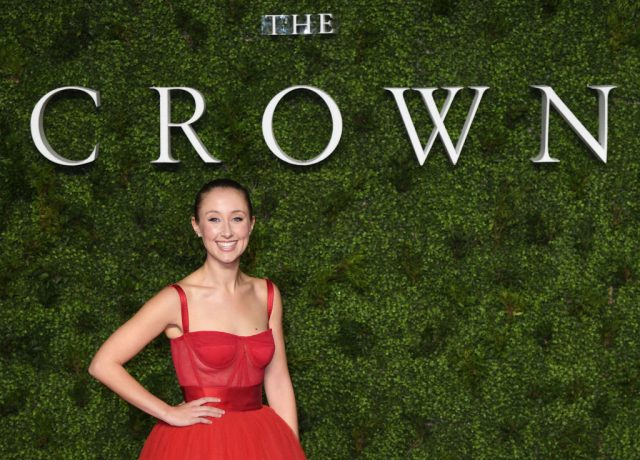 Erin Doherty at the premiere of 'The Crown' Season 3 on Nov. 13, 2019