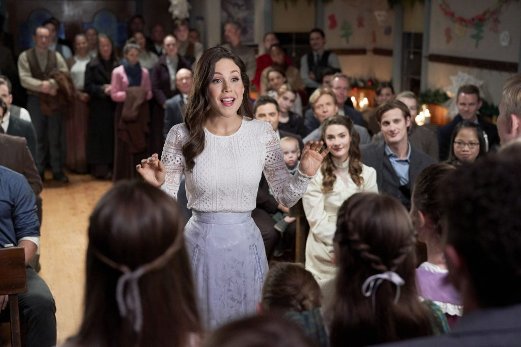 Erin Krakow in the When Calls the Heart Christmas special