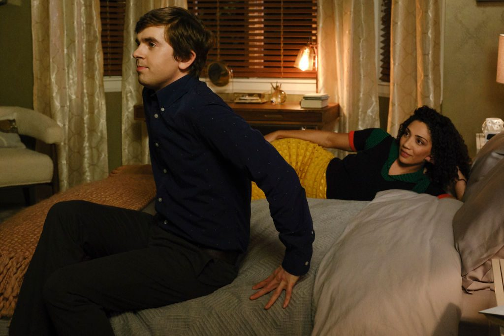 Freddie Highmore and Jasika Nicole on The Good Doctor | Jeff Weddell/ABC via Getty Images