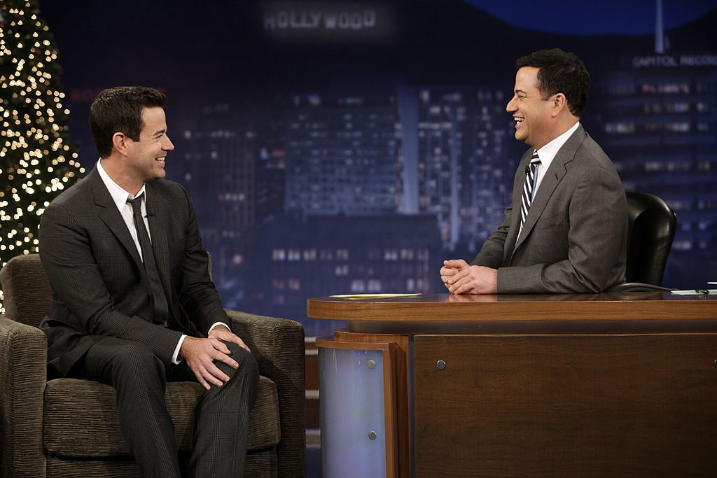 Carson Daly appearing on 'Jimmy Kimmel Live'