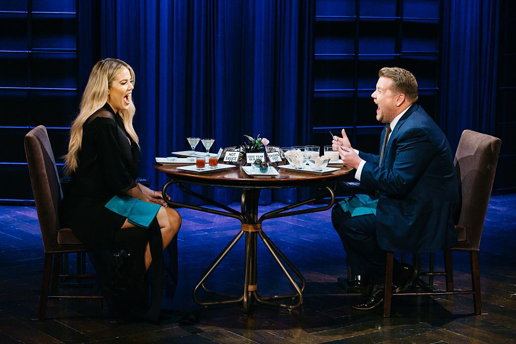 Khloe Kardashian on 'The Late Late Show with James Corden' in 2017