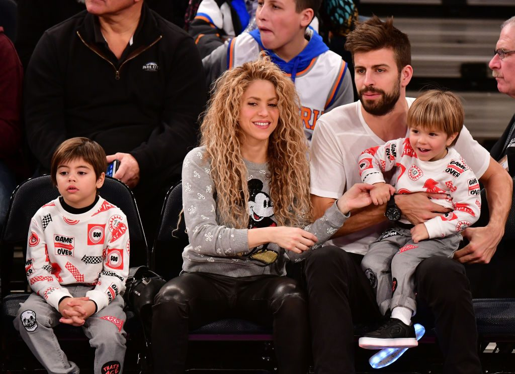 Shakira, her partner Gerard Piqué, and their two sons