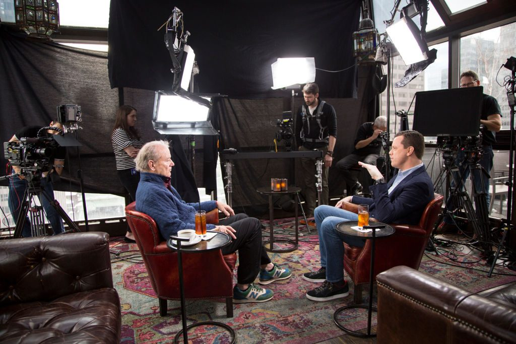 Comedian Bill Murray appearing on 'Sunday Today with Willie Geist' in 2018