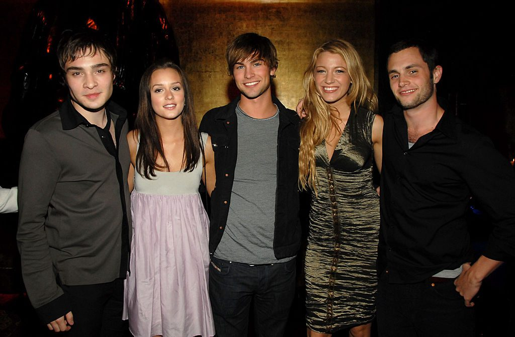 Ed Westwick, Leighton Meester, Chace Crawford, Blake Lively and Penn Badgley of 'Gossip Girl'