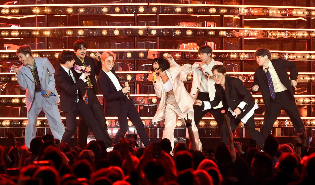 Halsey and BTS at the Billboard Music Awards