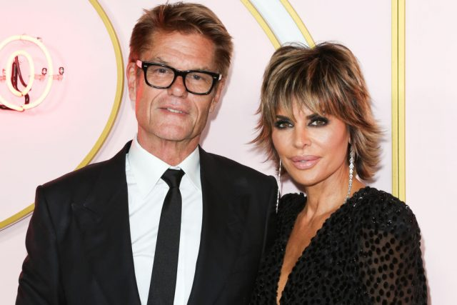 Harry Hamlin and Lisa Rinna at the Amazon Prime Video post 2018 Emmy Awards party on Sept. 17, 2018