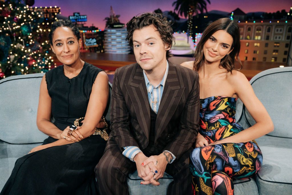 Harry Styles guest-hosts The Late Late Show with James Corden with guests Tracee Ellis Ross and Kendall Jenner