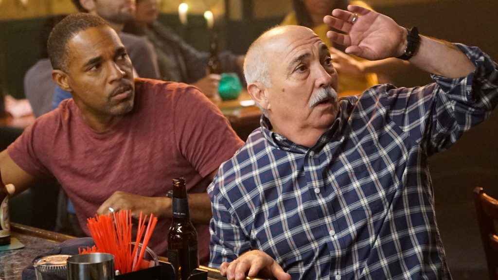 'Station 19's Jason George as Ben Warren and Miguel Sandoval as Captain Pruitt on 'Grey's Anatomy'