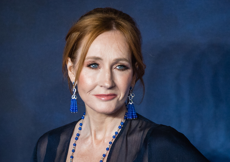 JK Rowling on the red carpet